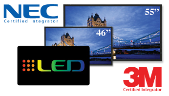 NEC X-Series LED Touch Screen