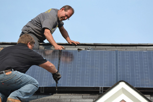 A.W.E. experts install a Lennox Solar Panel System