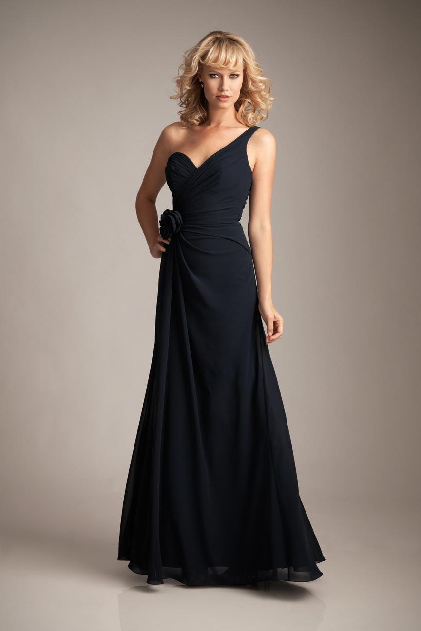 navy chiffon bridesmaid dresses