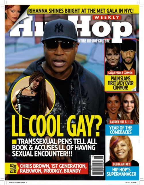 HIP HOP WEEKLY COVER LL COOL GAY?