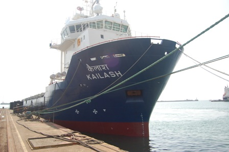 OSV KAILASH READY TO SAIL OUT AFTER REPAIRS