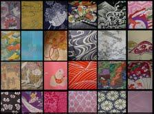 Kimono Fabric Collage