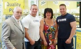 Mr Allen, Lukas Gabris, Sandra Riley and Jack van