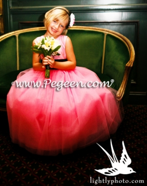 Flower Girl Dresses in Pink Tulle by Pegeen.com