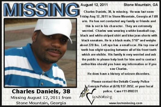 Charles Daniels 38 MISSING Stone Mountain GA - Aug
