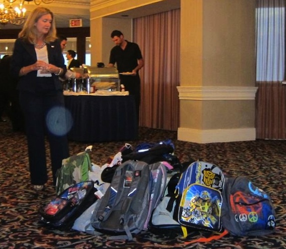 BNI Biscayne Connection's backpack drive for BBBS.