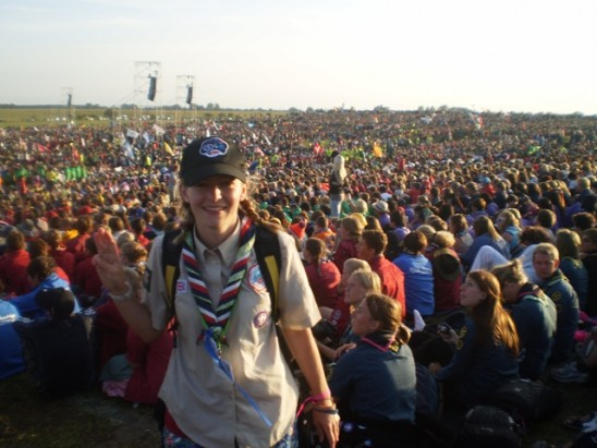 Lucy Stapleton pictured at Jamboree event
