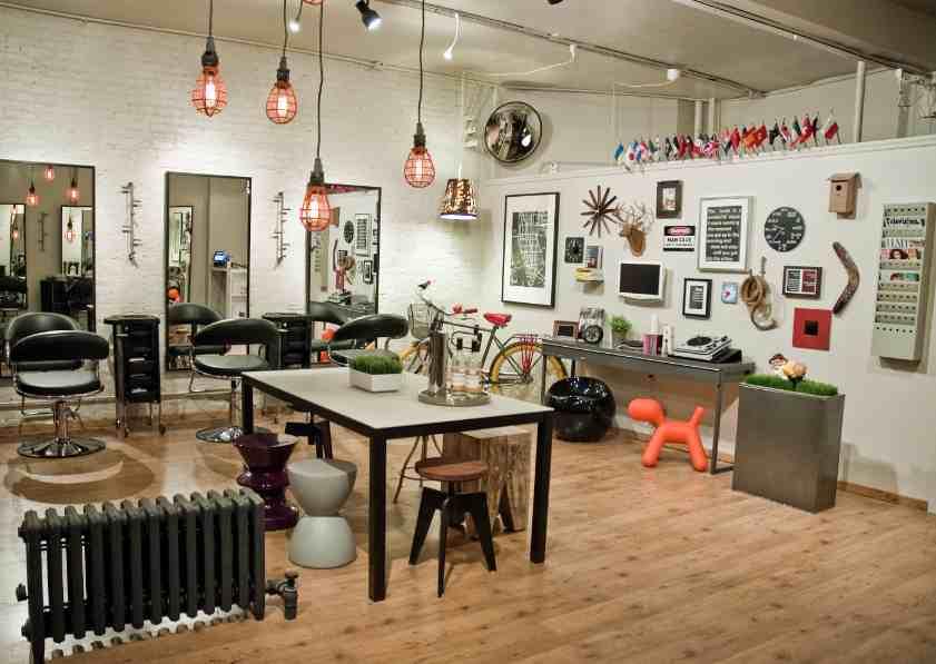Birds & Fellas Hair Studio's Loft-like Interior