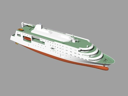 400 Passenger Vessel 3D Drawing image