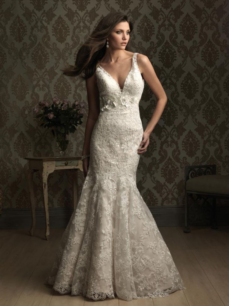lace fitted mermaid trumpet wedding dresses prlog