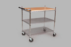 FFR-DSI Interlock Butcher Block Display Cart