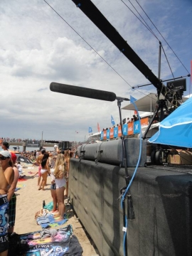 The Sennheiser MKH 8070 at the US Open of Surfing