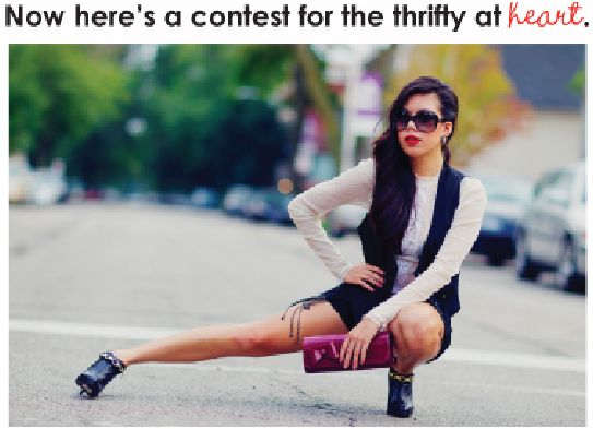 Smart but Thrifty dressers this contest is for you