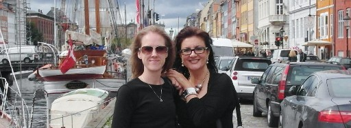 Lucy and Olivia in Copenhagen