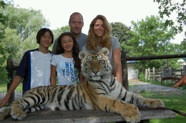 The family at Jungle Cat World