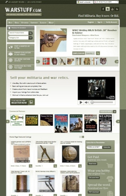 New Look for WARSTUFF Militaria Auctions