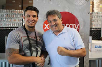 Frank Mir with Michael Levy, XYIENCE's CFO