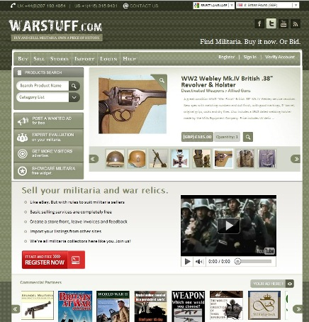 WARSTUFF militaria auctions and sales