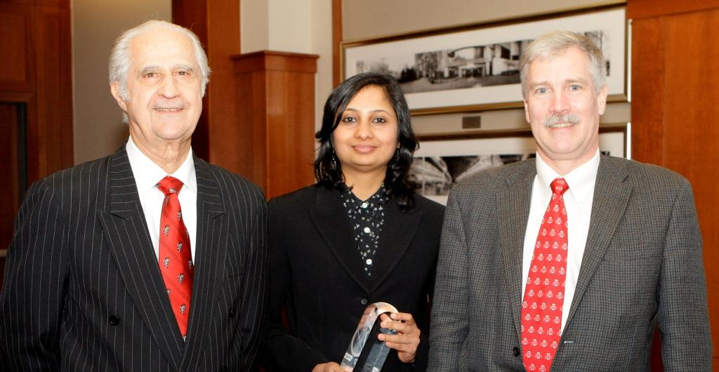 Dr. Chandrasekaran (center) Dr. Volpe is at left,