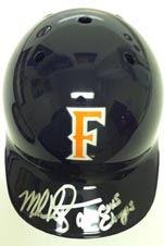 Mark Kotsay Signed Fullerton Mini Helmet