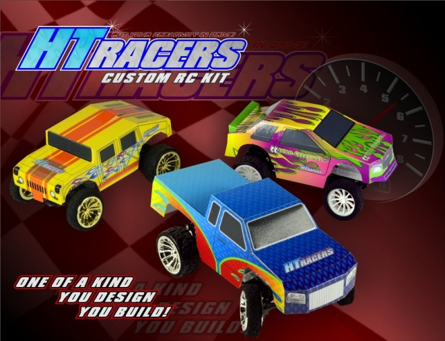 HT Racers are a  build and customize new RC toy.