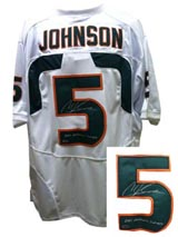 Andre Johnson Signed Miami Jersey INSC