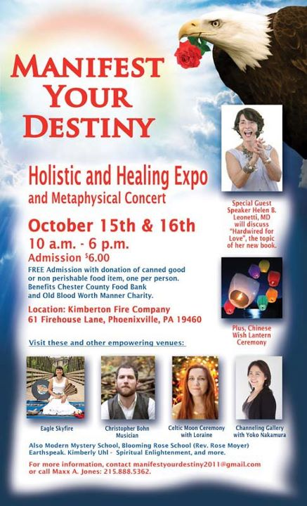 Manifest Your Destiny - Oct 15-16 Phoenixville, PA
