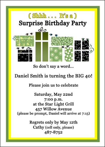 Party invitations 40th birthday for your birthdays celebrations 40th birthday invites filmwisefo