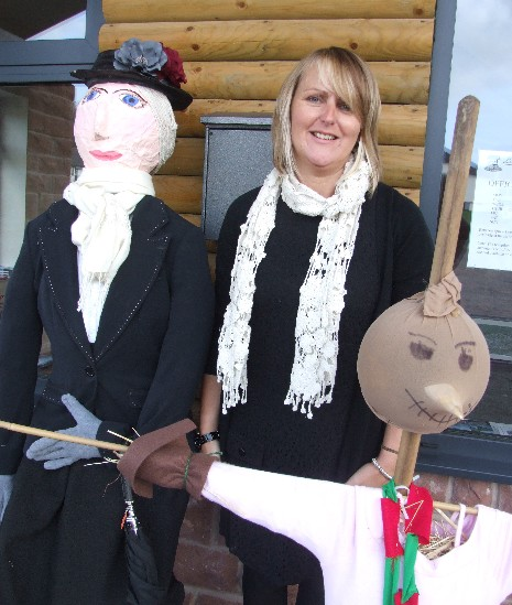 Nicole and scarecrows
