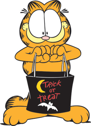 Garfield is ready for Halloween