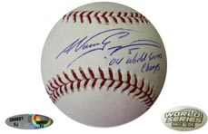 Nomar Garciaparra Signed WS Ball Champs