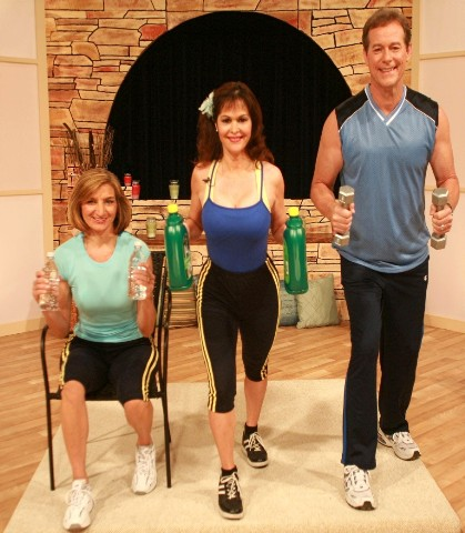 Captioned Fitness seated and standing