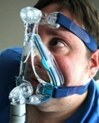 Man Wearing A CPAP Mask