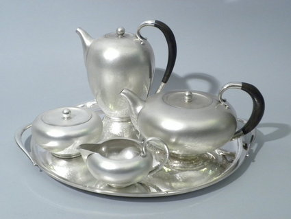 jensen sterling silver coffee tea set ruhde and ni