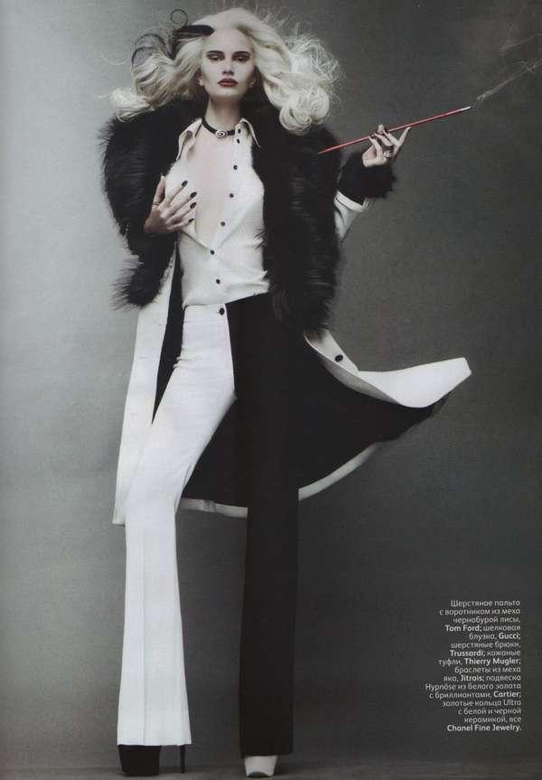 Cruella De Vil Halloween Couture Gaby Schmid Prlog
