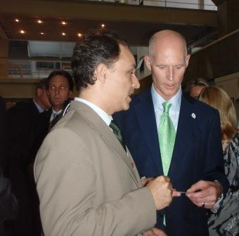 Jefferson Michaelis and Governor Rick Scott