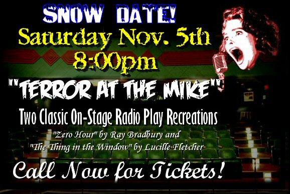 Shadowland Radio Dramas Saturday, November 5, 8pm