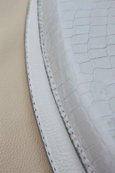EcoDomo Leather Toilet Seat - Patent Croc Lid Upgr