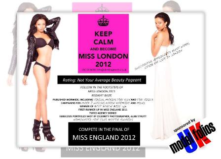 UK Model Folios Take on Miss London 2012