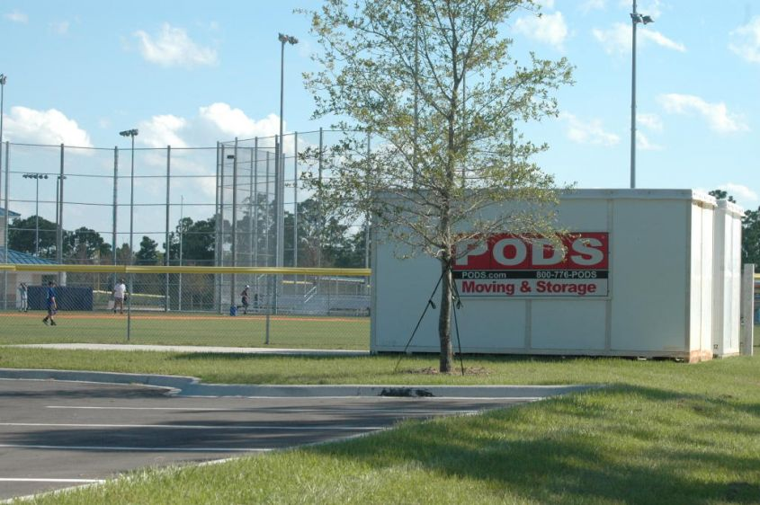 PODS container at Max K. Rodes Park