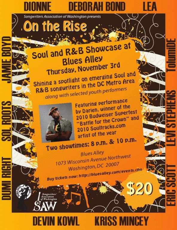 SAW Blues Alley Soul R&B Showcase