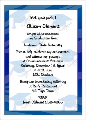 High School Graduation Announcement Wording