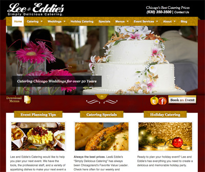 Lee & Eddie's New Catering Website