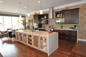 Contemporary kitchen showcases new home personalization for New home kitchen designs