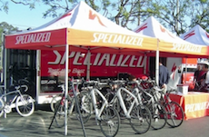 Specialized Bicycle with a bunch of demo bikes