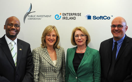 SoftCo & Irish Minister for State visit PIC HQ