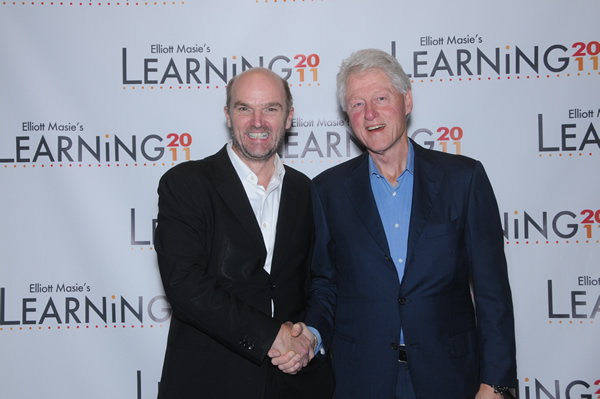 Stephen Lambert and Bill Clinton
