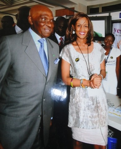 Sophia Bekele with H.E. President Wade of Senegal