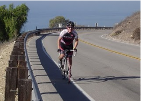 Toughing it up the hill in Palos Verdes