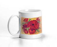 Orange Poppy Painting Mug Virginia Holt 11oz 2